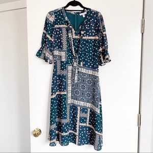 Chelsea28 Mixed Print A-Line Dress NWOT